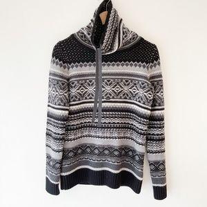 NEVE Merino Wool Funnel Neck Sweater